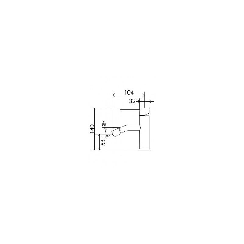 Cifial Mini Round Mono Bidet Mixer Chrome