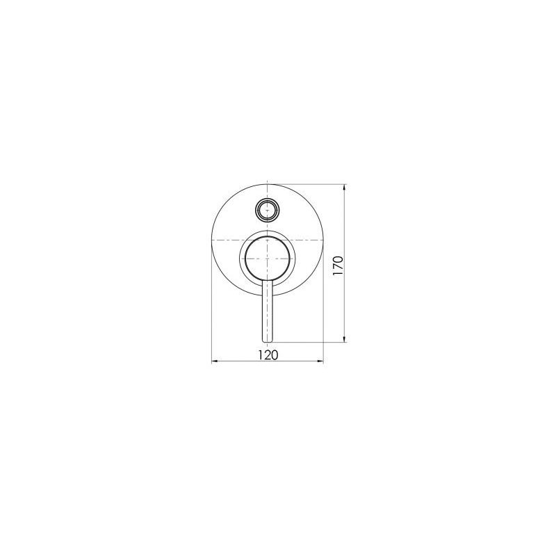 Cifial Technovation 35 Concealed Manual Bath/Shower Mixer Chrome