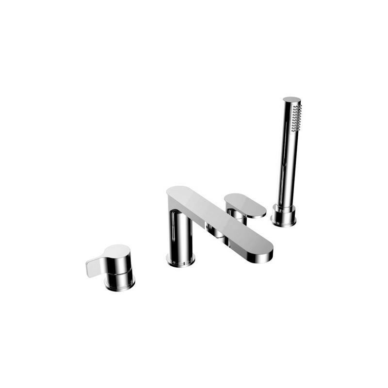 Cifial TH251 4 Hole Deck Bath Mixer Chrome