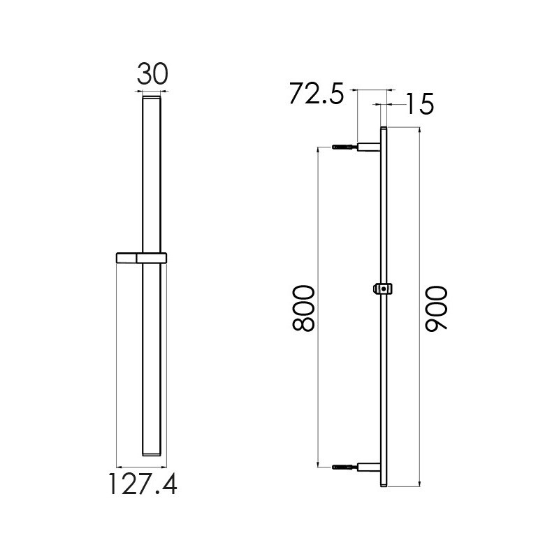 Cifial Slim Flat 900mm Slider Bar