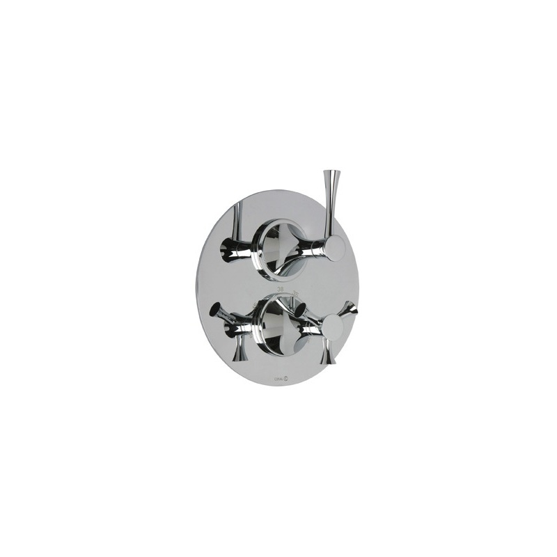 Cifial Brookhaven Lever 2 Control Thermostatic Valve Chrome