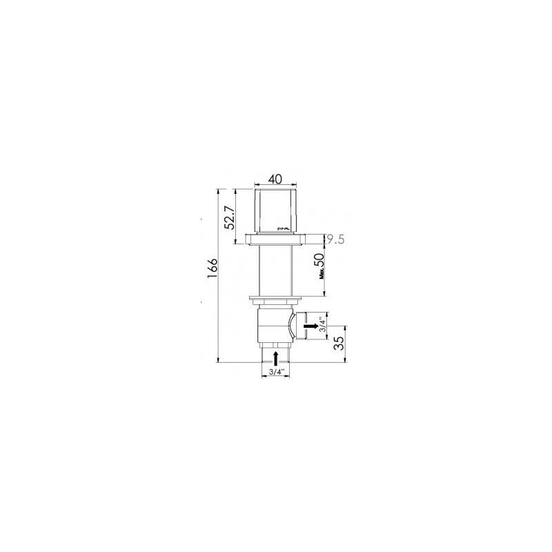 Cifial Cudo Deck Valves & Aqua Filler Chrome