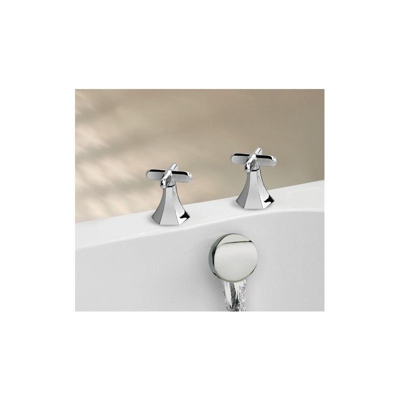 Cifial Hexa Deck Bath Valves & Aqua Filler Chrome