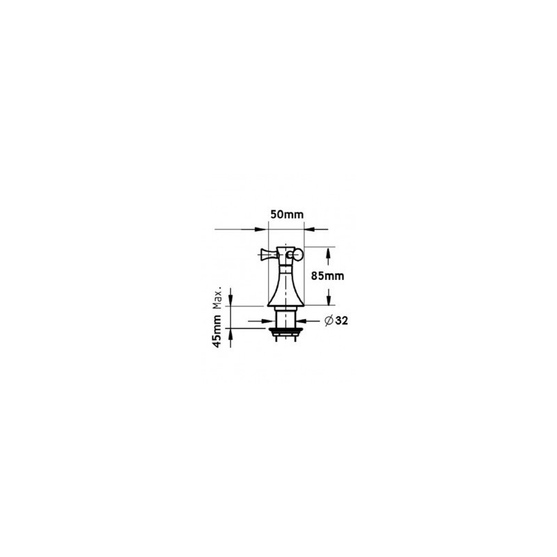 Cifial Brookhaven Cross Deck Valves & Aqua Filler Chrome