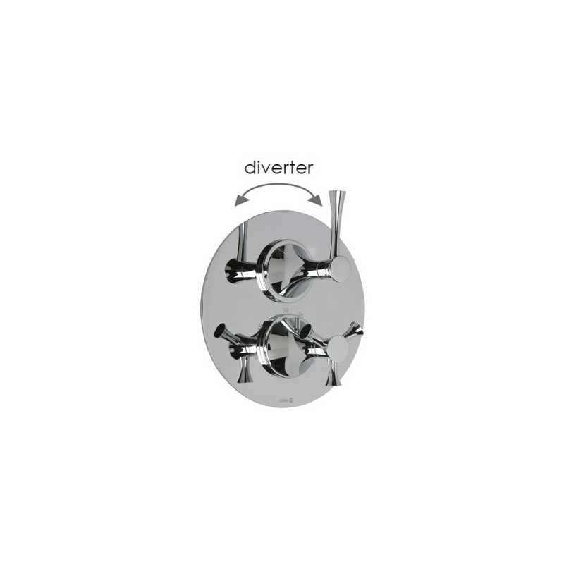 Cifial Brookhaven Lever Thermostatic Valve with Diverter Chrome
