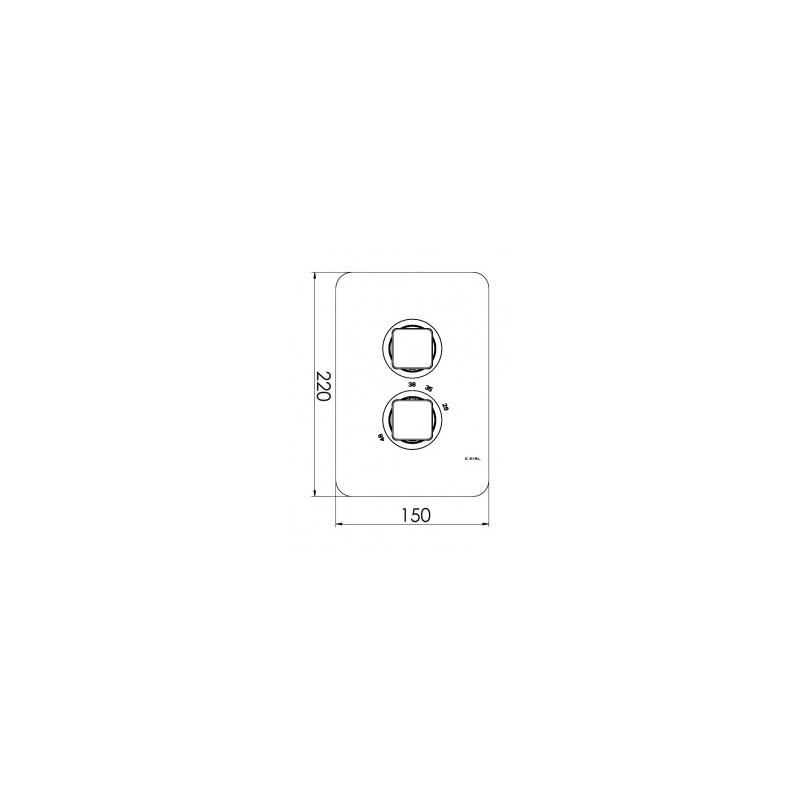 Cifial Cudo Thermostatic Valve with Diverter Chrome