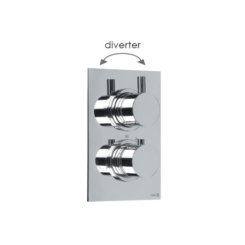 Cifial Technovation 465 Thermostatic Valve with Diverter Chrome