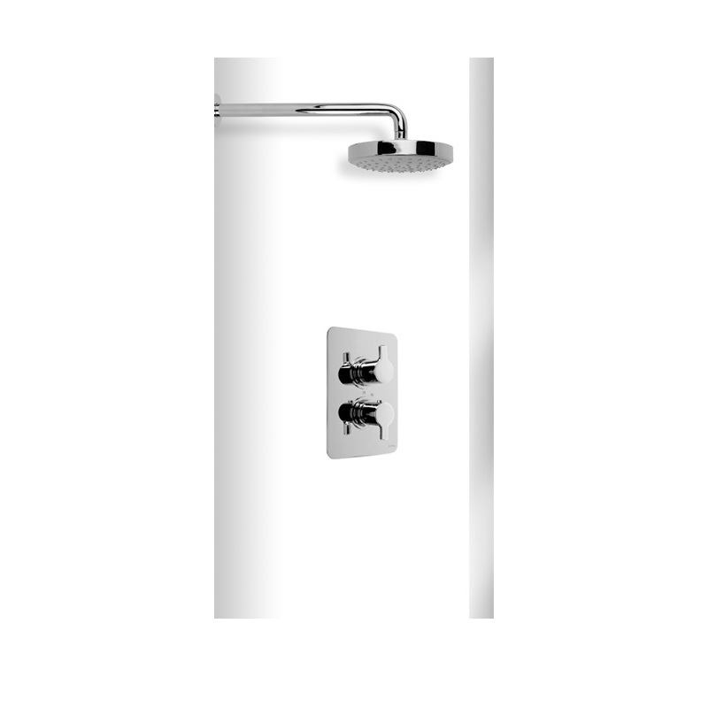 Cifial Coule Thermostatic Fixed Shower Kit Chrome
