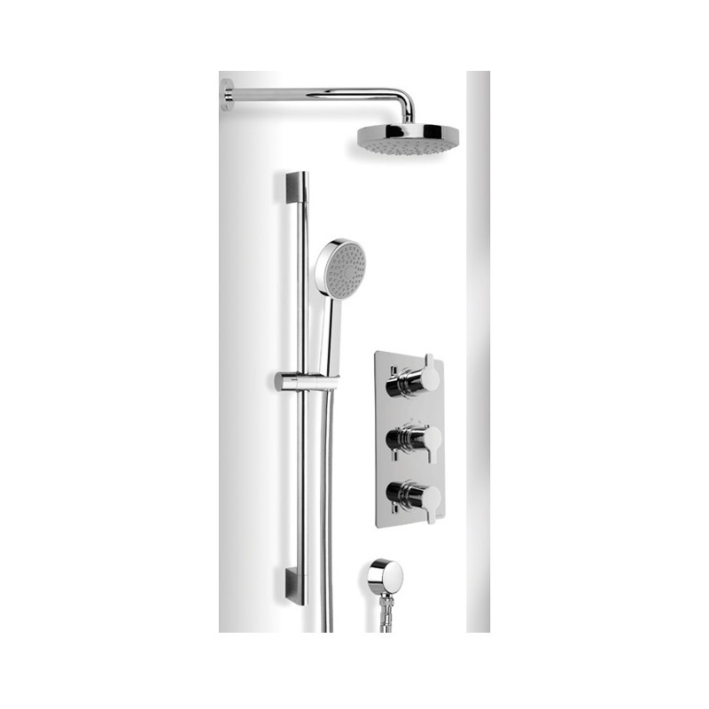 Cifial Coule Thermostatic Fixed/Flexi Shower Kit Chrome