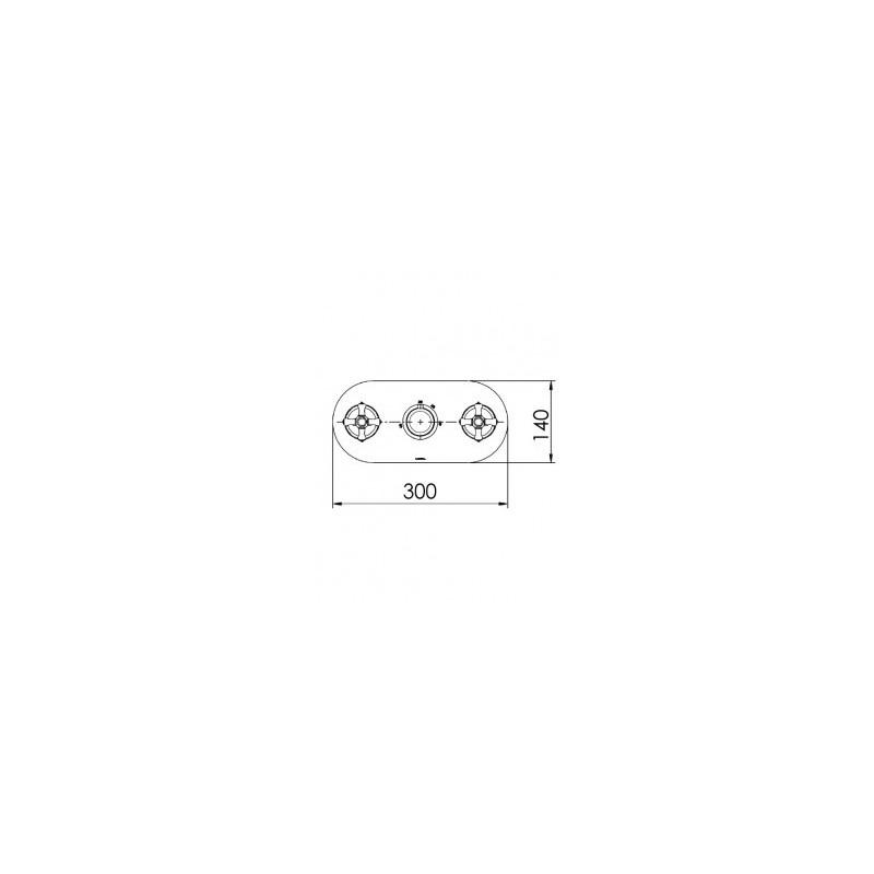Cifial Edwardian 3 Control Landscape Thermostatic Valve Chrome