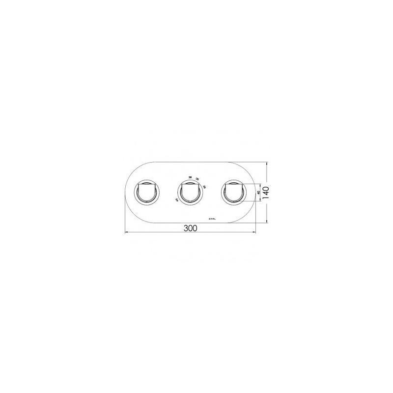 Cifial Emmie 3 Control Landscape Thermostatic Valve Chrome