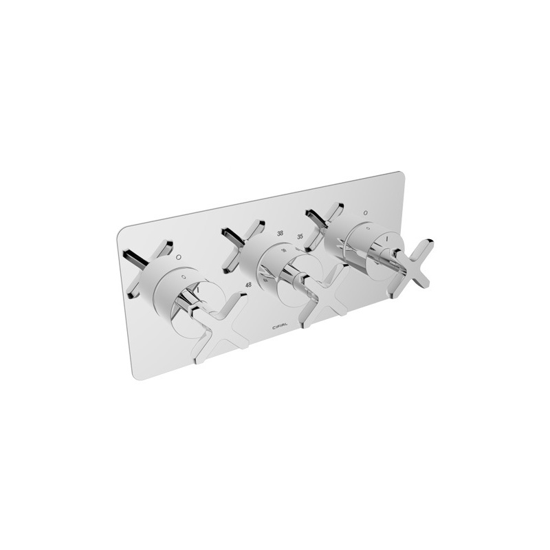 Cifial Texa 3 Control Landscape Thermostatic Shower Valve