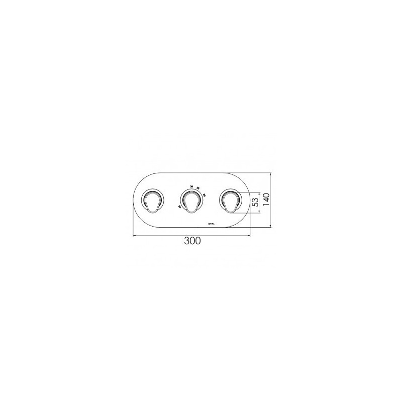 Cifial Viva 3 Control Landscape Thermostatic Valve Chrome