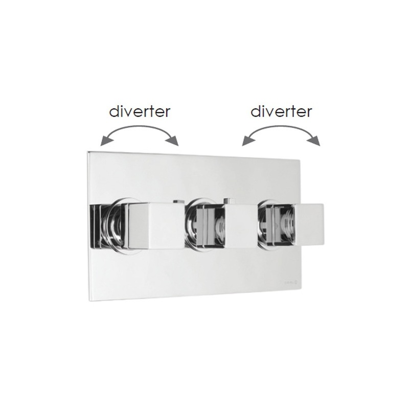 Cifial Quadrado 3 Control Landscape Valve with Double Diverter