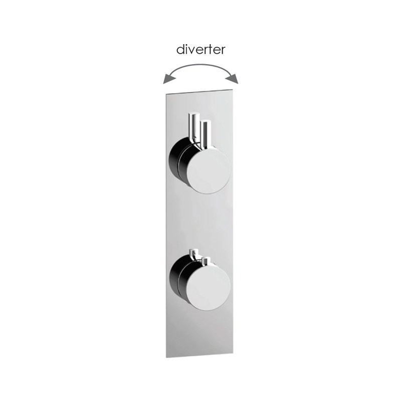 Cifial Slim Techno Thermostatic Shower Valve, 2 Outlets
