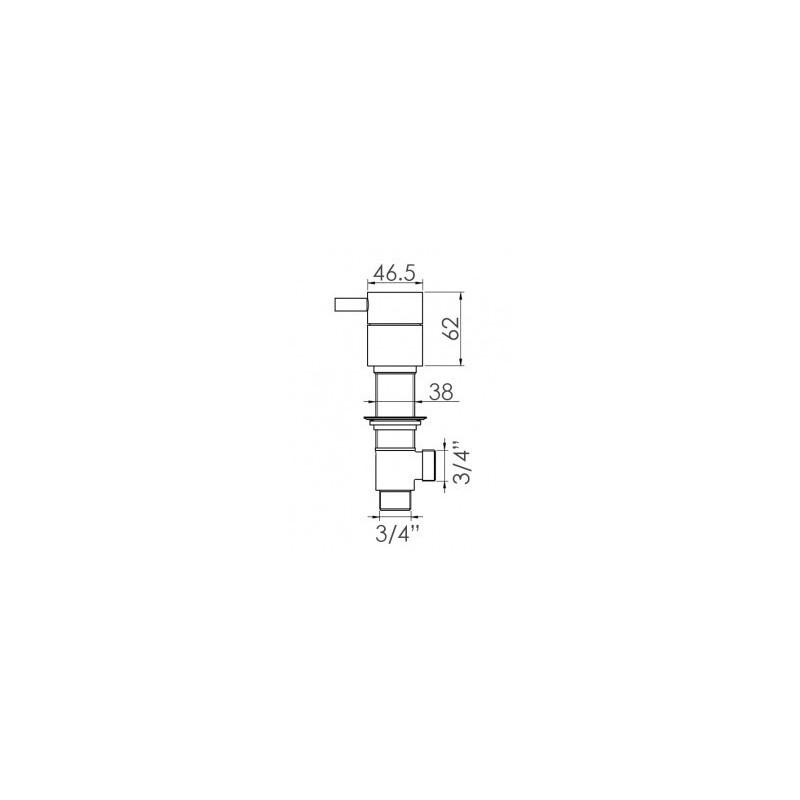 Cifial Technovation 465 Thermostatic Deck Valves & Aqua Filler