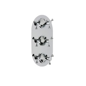 Cifial Brookhaven Cross 3 Control Thermostatic Valve Chrome