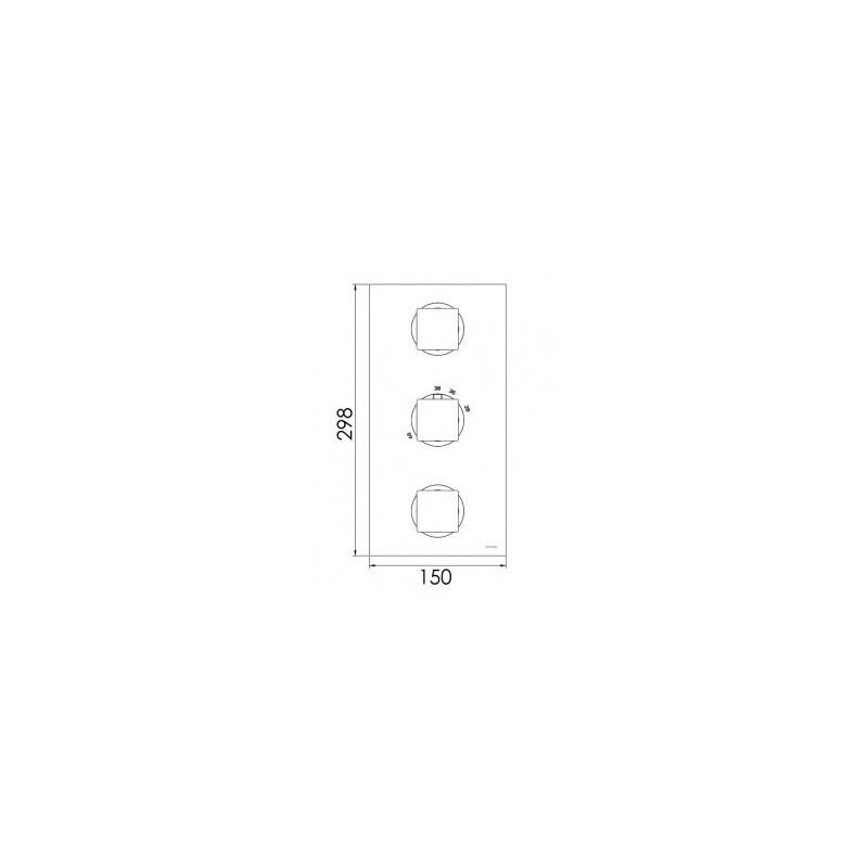 Cifial Quadrado 3 Control Thermostatic Valve Chrome