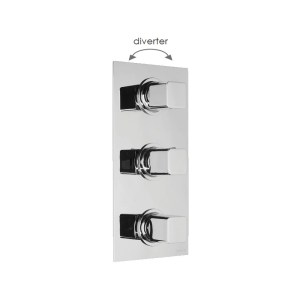 Cifial Cudo 3 Control Thermostatic Valve with Diverter Chrome
