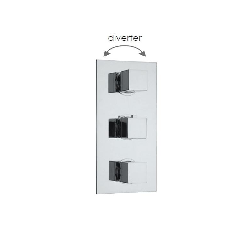 Cifial Quadrado 3 Control Thermostatic Valve with Diverter