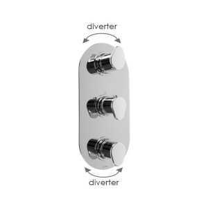 Cifial Viva 3 Control Thermostatic Valve with Diverter Chrome