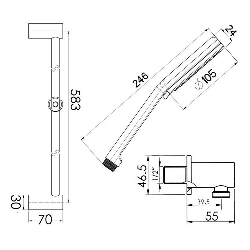 Cifial Air Dual Deluxe Flexi Slider Bar Kit Chrome