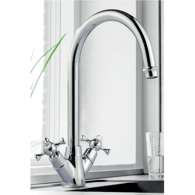 Clearwater Cottage Mono Sink Mixer with Swivel Spout Chrome