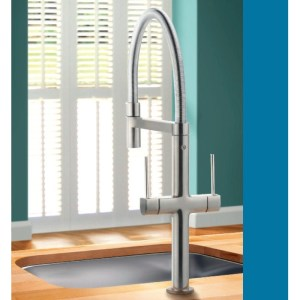 Clearwater Dorado Mono Sink Mixer with Swivel Spout Brushed