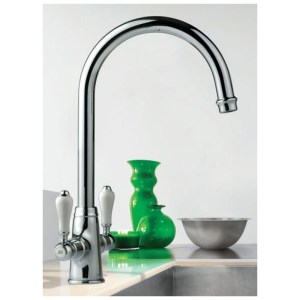 Clearwater Elegance Mono Sink Mixer with Swivel Spout Brushed