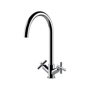 Clearwater Rossi Mono Sink Mixer Brushed Nickel
