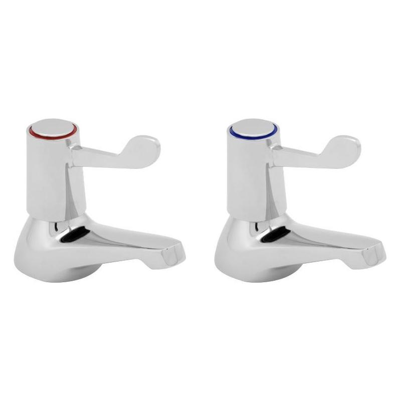 Deva Lever Action Bath Taps with Metal Backnuts