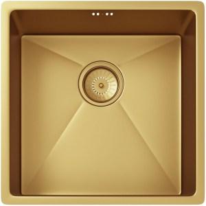 Ellsi Elite 1 Bowl Stainless Steel Kitchen Sink & Waste Gold