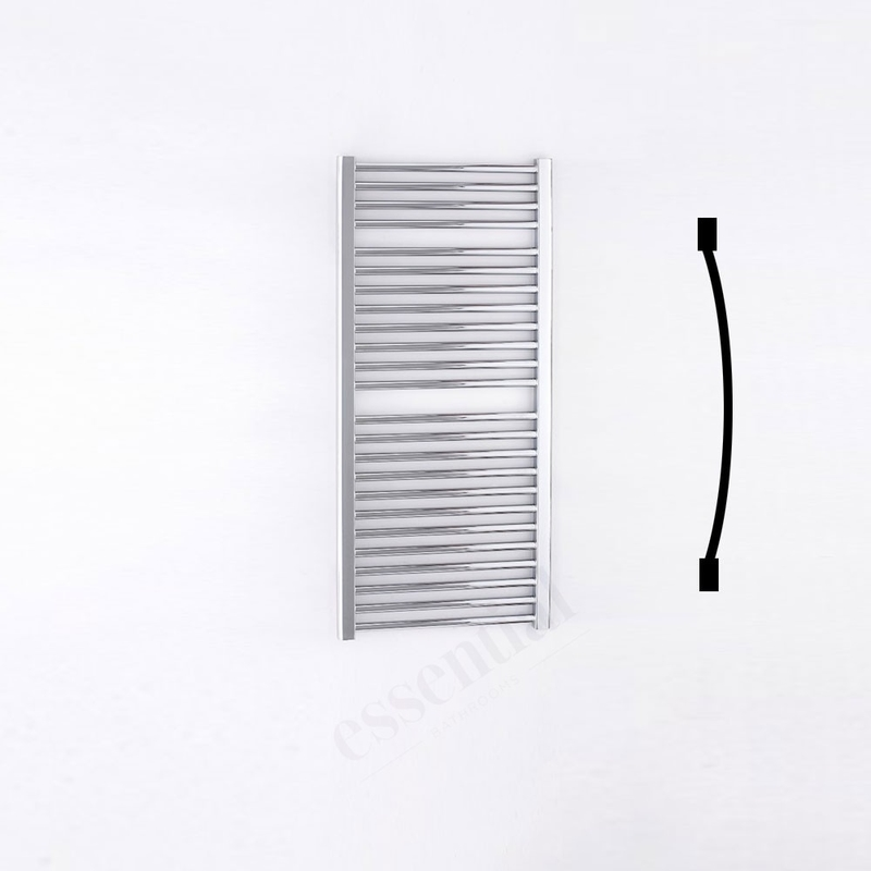 Essential Standard Towel Warmer Curved 1110x500mm Chrome