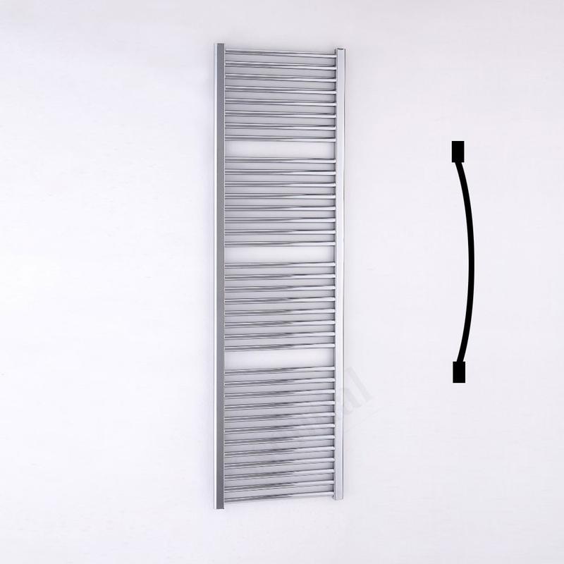 Essential Standard Towel Warmer Curved 1700x500mm Chrome