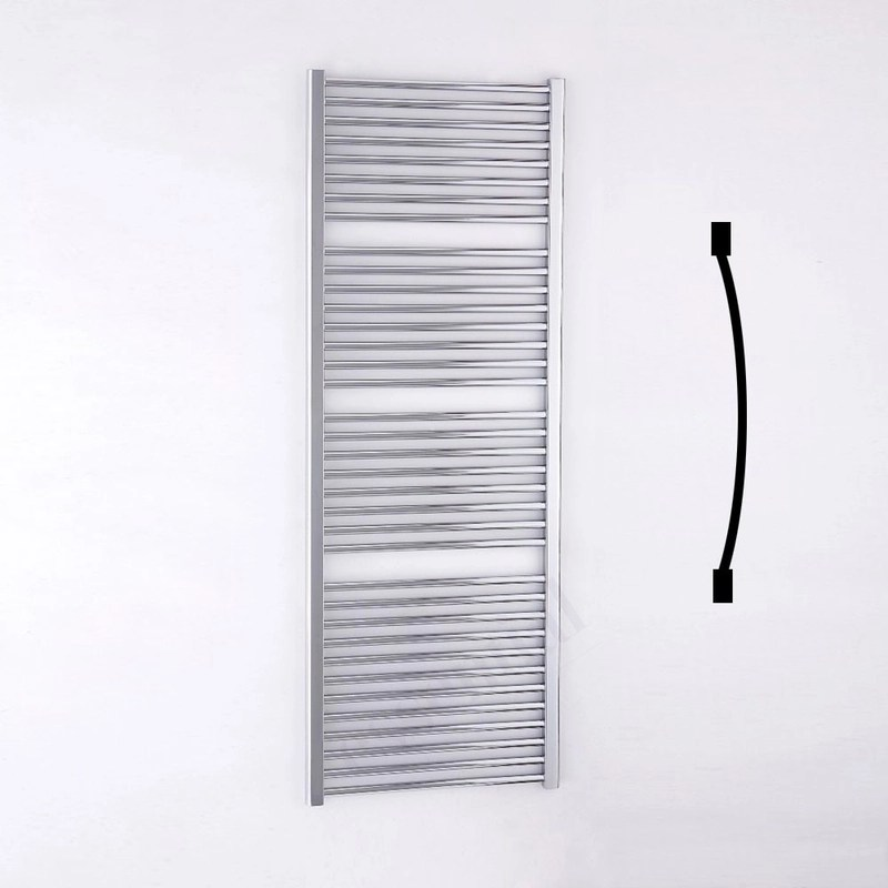 Essential Standard Towel Warmer Curved 1700x600mm Chrome