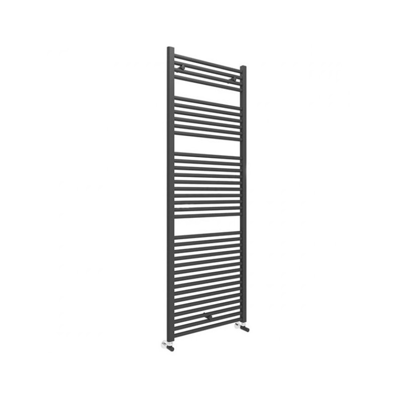 Essential Straight 1703x600mm Matt Black Towel Warmer