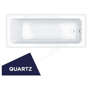 Essential Bromley Rectangular Bath Quartz 1700x750mm 0 Tap Holes