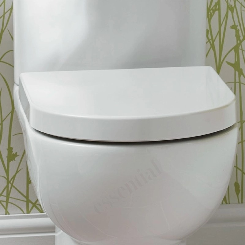 Essential Lily D Shape Soft Close Toilet Seat & Cover White