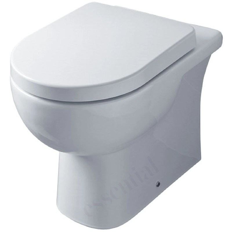 Essential Lily Back To Wall Pan Only White