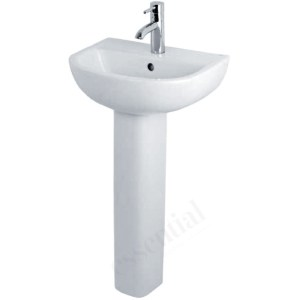 Essential Lily Small Full Pedestal Only White