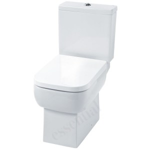 Essential Orchid Close Coupled Pan, Cistern & Soft Close Seat