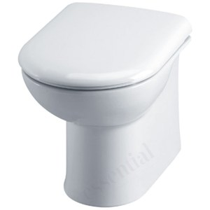 Essential Gem Back To Wall Pan Only White