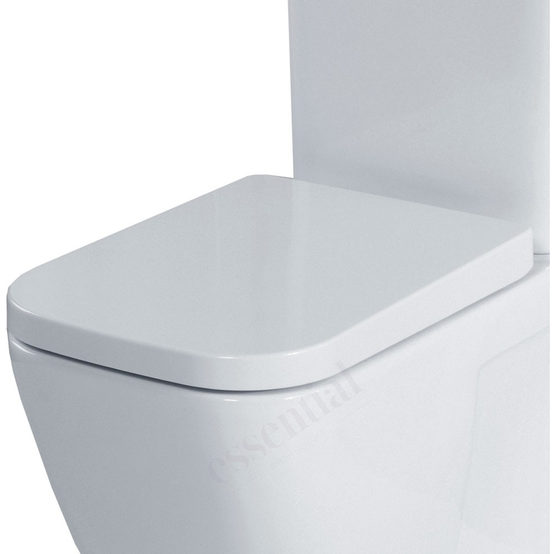 Essential Fuchsia Square Soft Close Toilet Seat & Cover White