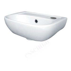 Essential Fuchsia Handrinse Basin Only Right 380mm 1 Tap Hole