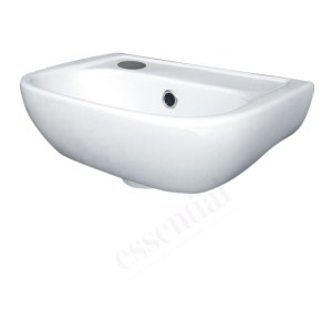 Essential Fuchsia Handrinse Basin Only Left 380mm 1 Tap Hole