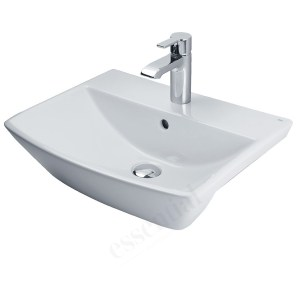 Essential Jasmine Semi Recessed Basin Only 500mm 1 Tap Hole