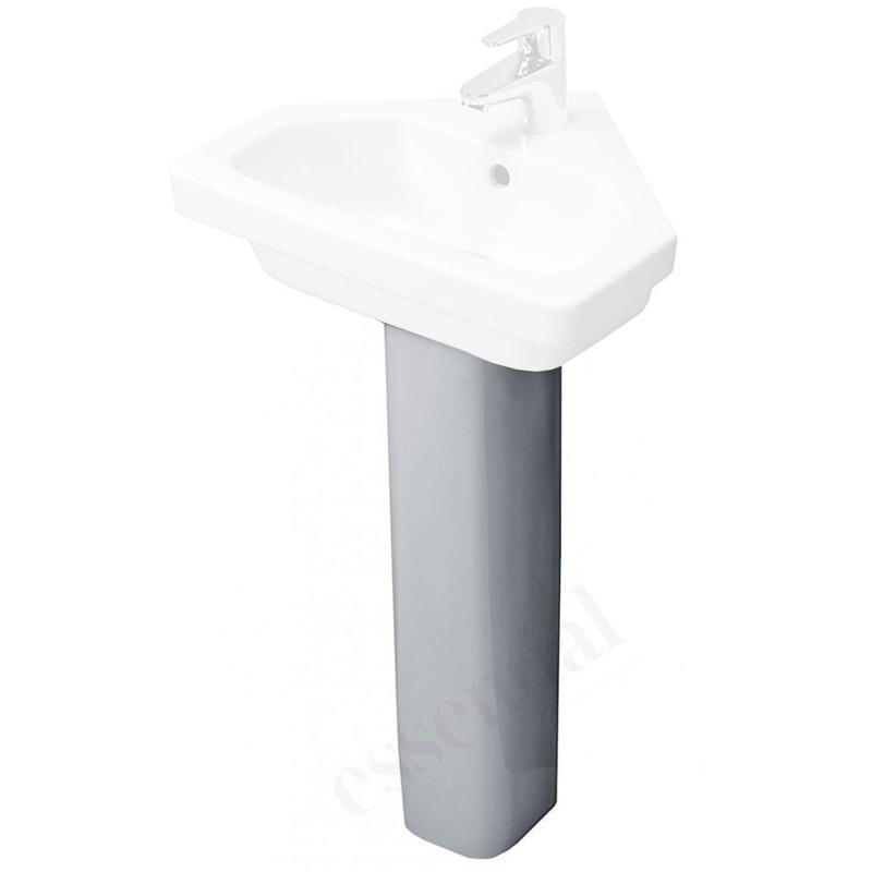 Essential Ivy Slimline Full Pedestal Only White