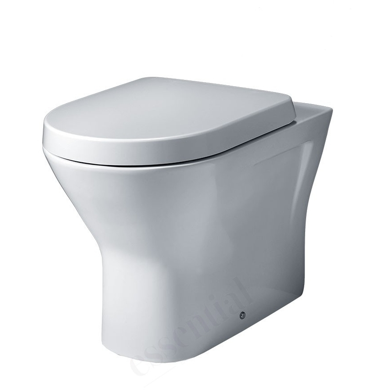 Essential Ivy Back to Wall Pan & Soft Close Seat Pack White