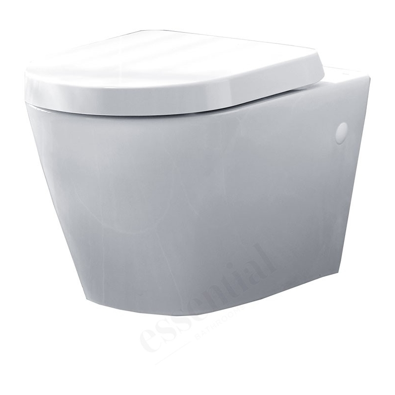 Essential Ivy Wall Hung Pan & Soft Close Seat Pack White
