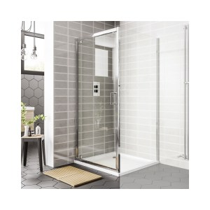 Essential Spring Pivot Shower Door 900mm